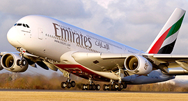 מטוס של ענקית התעופה Emirates שבסיסה בדובאי, צילום: emirates