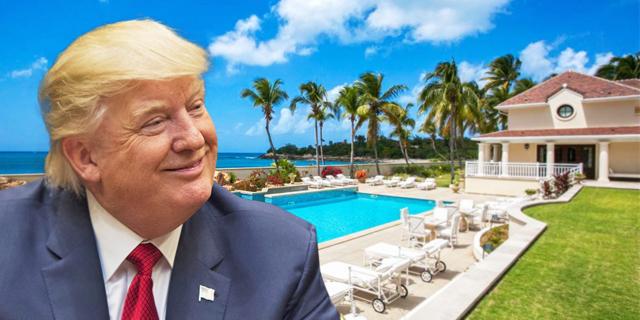 אחוזה של טראמפ בקאריביים מוצעת למכירה בהנחה של 40%