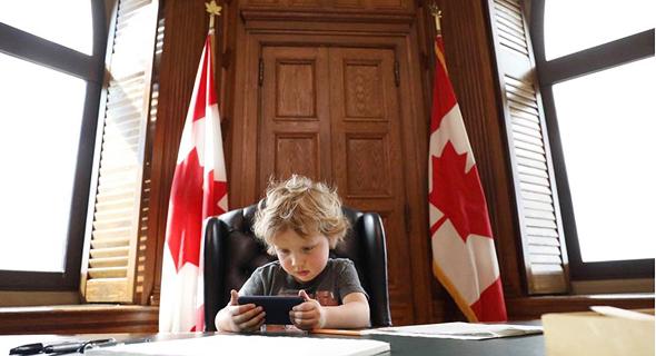 הבן של ראש ממשלת קנדה, ג'סטין טרודו