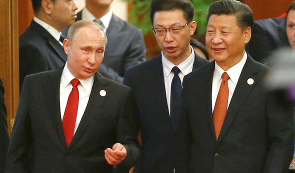 מימין קיצוני שי ג'ינפינג נשיא סין ו ולדימיר פוטין, צילום: רויטרס