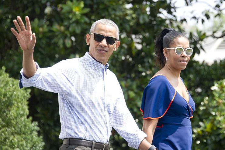מישל וברק אובמה, צילום: גטי אימג