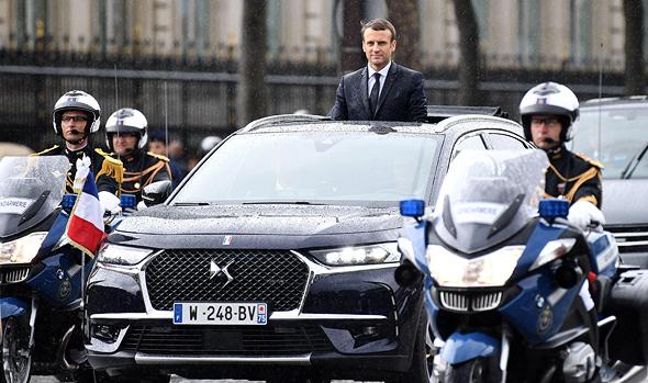 נשיא צרפת עמנואל מקרון סיטרואן יצרה דגם חדש במיוחד למעמד ההשבעה, צילום: איי אף פי
