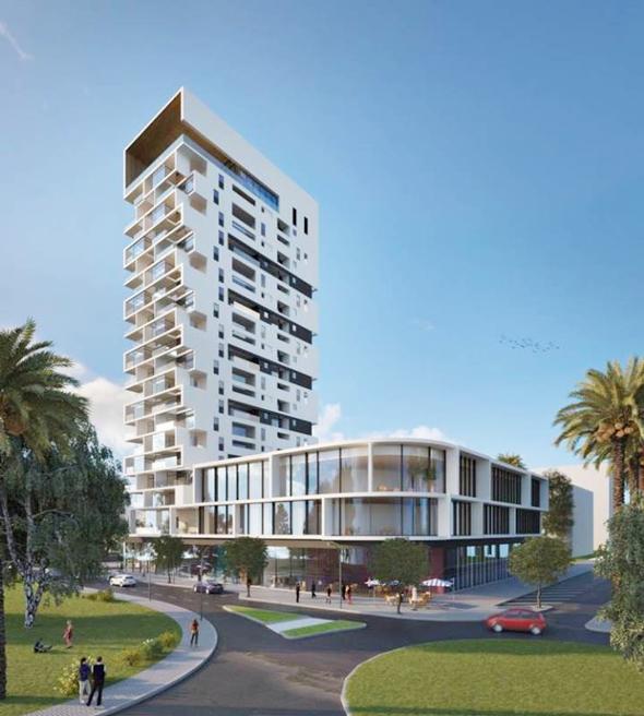 הדמיית המגדל בעפולה. 35 דירות בפרויקט בר השגה, היתר יימכרו ב־1.2 מיליון שקל, הדמיה: עיריית עפולה