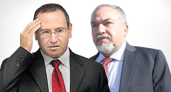 מימין שר הביטחון אביגדור ליברמן החשב הכללי רוני חזקיהו, צילום: שאול גולן, גיא אסיאג