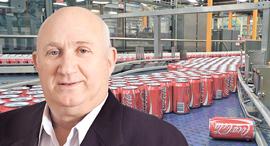 איציק אברכהן מנכל שופרסל קו ייצור של קוקה קולה, צילום: בלומברג, סיון פרג'