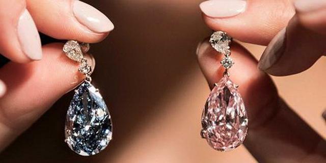 שיא חדש: עגילי יהלום צבעוניים נמכרו ב-57 מיליון דולר