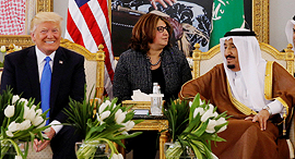 טראמפ עם מלך סעודיה סלמן, צילום: רויטרס