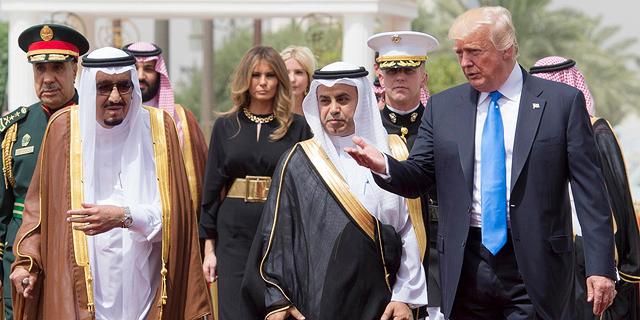 """ביקור טראמפ בסעודיה: תקנה נשק מארה""""ב ב-350 מיליארד דולר"""