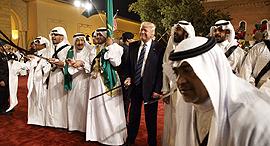 טראמפ בסעודיה, צילום: איי פי