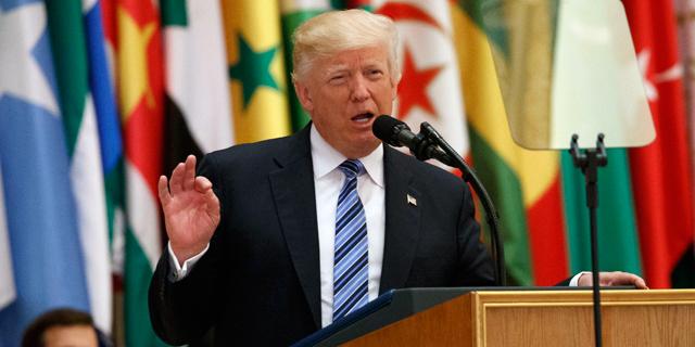 """נאום טראמפ לעולם המוסלמי: """"טרוריסטים לא מאמינים בחיים, אלא במוות"""""""