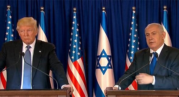 """ראש הממשלה בנימין נתניהו ו נשיא ארה""""ב דונלד טראמפ הצהרות ביקור ב ישראל מאי 2017"""