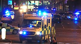 """זירת פיגוע ההתאבדות ב מנצ'סטר בריטניה , צילום"""" אם סי טי"""