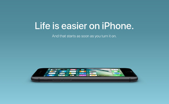 אפל קמפיין אייפון, צילום: Apple