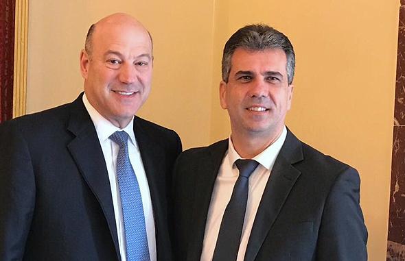 שר הכלכלה אלי כהן  ו גארי כהן היועץ הכלכלי של טראמפ , צילום: דוברות משרד הכלכלה