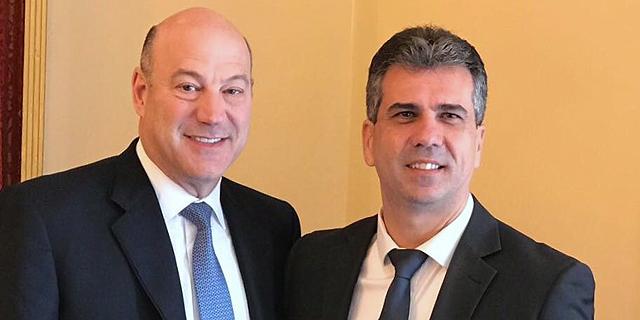 מימין: שר הכלכלה אלי כהן וגארי קוהן (ארכיון), צילום: דוברות משרד הכלכלה