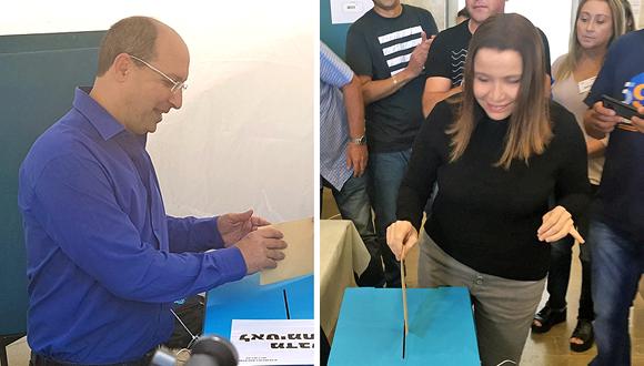 יחימוביץ' וניסנקורן מצביעים בבחירות להסתדרות, צילומים: אביב גוטר, ליאור גוטמן