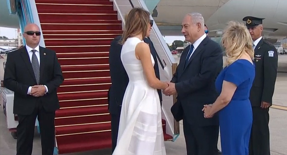 """נשיא ארה""""ב דונלד טראמפ מסיים את ביקורו ב ישראל נתב""""ג 2, צילום מסך: Ynet"""