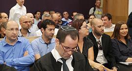שלי יחימוביץ ו אבי ניסנקורן ב בית המשפט בנושא ביטול הצבעות בחירות הסתדרות, צילום: אוראל כהן
