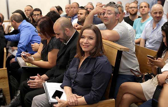 שלי יחימוביץ' ב בית המשפט בנושא ביטול הצבעות בחירות הסתדרות, צילום: אוראל כהן