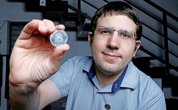 Meni Rosenfeld, chairman of the Israeli Bitcoin Association. Photo: Amit Sha'al