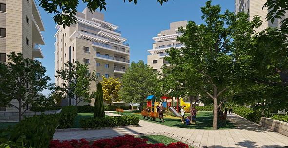 הדמיה של פרויקט פינוי-בינוי בקטמונים, ירושלים