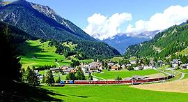 כפר שוויץ ברגון בראוון צילום אסור Bergün Bravuogn , צילום: worldofrailways