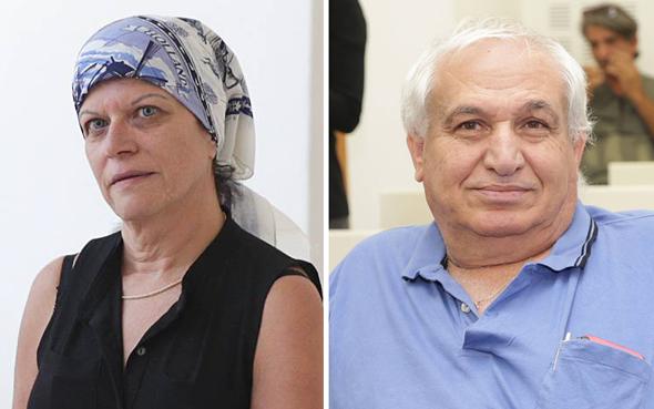 מימין אלי כהן ו הילה בסיל תעשייה אווירית, צילום: אוראל כהן