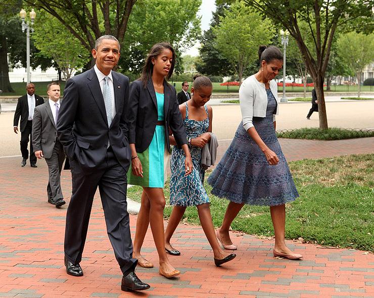 משפחת אובמה , צילום: גטי אימג