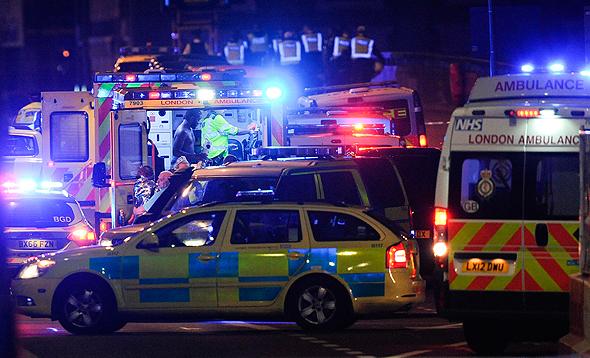 זירת הפיגוע בגשר לונדון