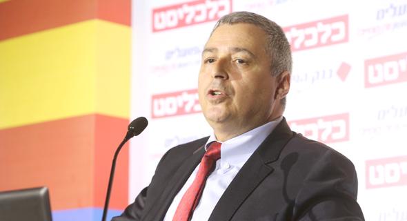 """מנכ""""ל בנק הפועלים, אריק פינטו, בוועידה"""