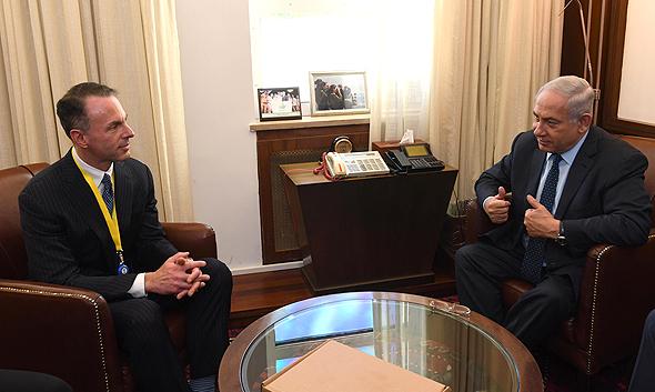 """בנימין נתניהו נפגש עם מנכ""""ל ebay אי ביי איביי דווין וניג, צילום: חיים צח לע""""מ"""