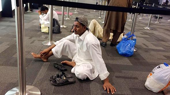 נמל התעופה בדוחא לאחר שטיסות בוטלו