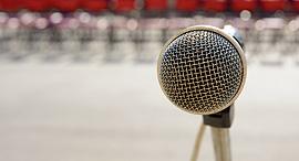 מיקרופון קהל דיבור מול קהל, צילךום: שאטרסטוק
