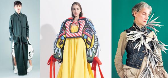 """יצירות אופנה ישראליות בתערוכה. """"דלות החומר מעודדת יצירת חומרי גלם"""""""