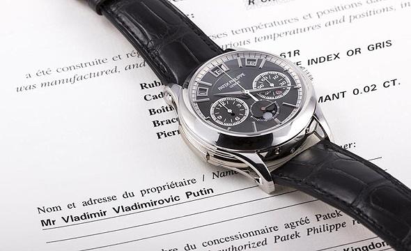 שעון פטק פיליפ של פוטין. מחירו מוערך במיליון דולר
