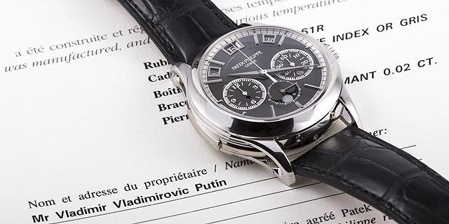 יד ראשונה מפוטין: השעון היקר ביותר באוסף של נשיא רוסיה מוצע למכירה