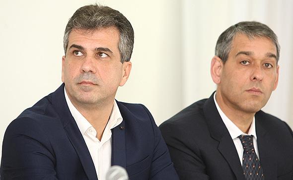 מימין שי רינסקי ו שר הכלכלה אלי כהן, צילום: אוראל כהן