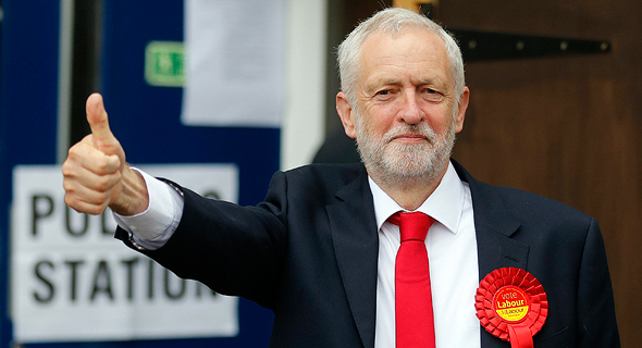 """מנהיג מפלגת הלייבור ג'רמי קורבין. פחות ידידותי למשקיעי הנדל""""ן"""