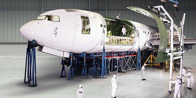 מטוס של התעשייה האווירית, צילום: התעשייה האווירית