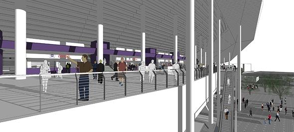 הדמיית האמצטדיון לאחר השיפוץ