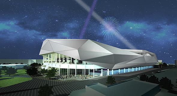 הדמיית האצטדיון החדש מבחוץ
