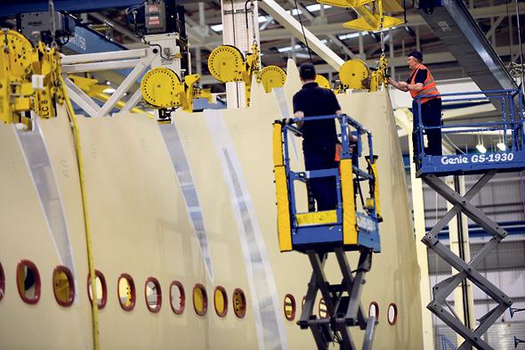 מפעל איירבוס ב בריטניה, צילום: בלומברג