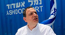 """מנכ""""ל נמל אשדוד יצחק בלומנטל, צילום: צפריר אביוב"""