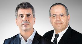 מימין איוב קרא שר התקשורת ו אלי כהן שר הכלכלה, צילום: יחצ, דוברות המפלגה כולנו