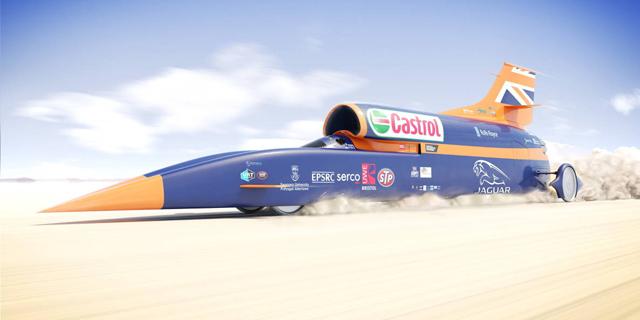 """בדרך לשיא חדש: מכונית על קולית צפויה להגיע ל-1,609 קמ""""ש בנסיעת המבחן הראשונה"""