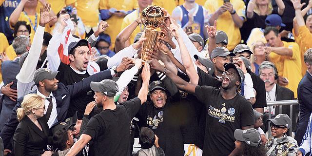 גולדן סטייט. המשחק החמישי בסדרה הביא 24.5 מיליון צופים בממוצע בנוסף ל-537 אלף איש שצפו בשירות הסטרימינג. , צילום: USA Today Sports