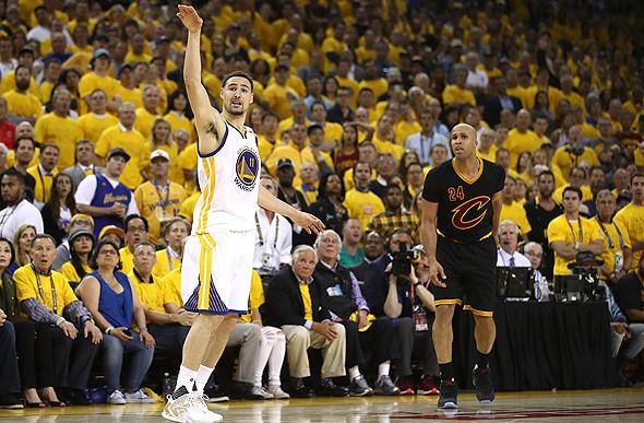 קליי תומפסון מגולדן סטייט ווריורס בגמר ה-NBA