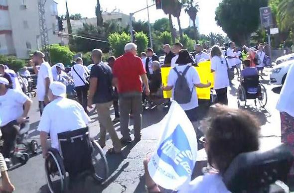 הפגנת הנכים בתל אביב