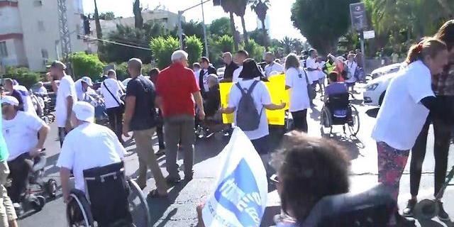 הפגנת הנכים בתל אביב, צילום: יוגב אטיאס