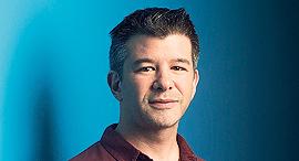 """מוסף שבועי 15.6.17 טראוויס קלניק מנכ""""ל אובר, צילום: בלומברג"""